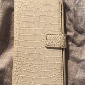 Accessories - iPhone 6 Plus case. White wallet case